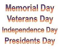 Días de fiesta patrióticos Fotos de archivo