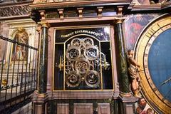 Días de fiesta religiosos del cálculo de la catedral de Estrasburgo Fotos de archivo libres de regalías