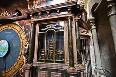 Días de fiesta religiosos del cálculo de la catedral de Estrasburgo Fotografía de archivo libre de regalías
