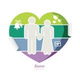 Días de fiesta suaves de la tarjeta del color que se casan y día de tarjetas del día de San Valentín ilustración del vector
