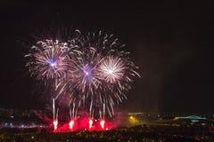 Días de fuegos artificiales en Zagreb Imágenes de archivo libres de regalías