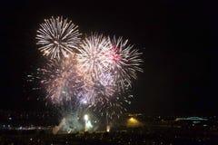 Días de fuegos artificiales en Zagreb Imagen de archivo libre de regalías
