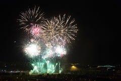 Días de fuegos artificiales en Zagreb Foto de archivo