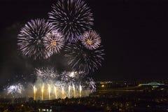 Días de fuegos artificiales en Zagreb Foto de archivo libre de regalías