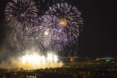 Días de fuegos artificiales en Zagreb Imagen de archivo
