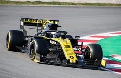 Días 2019 de la prueba del Fórmula 1 - Daniel Ricciardo imagen de archivo libre de regalías