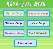 Días de la semana Imagenes de archivo