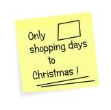 Días de las compras a la Navidad - recordatorio Foto de archivo libre de regalías