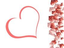 Días de tarjeta del día de San Valentín Fotos de archivo