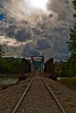 Días de verano nublados del puente de Durango Colorado HDR Fotografía de archivo