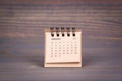Días del enero en 2018 Calendario de escritorio Foto de archivo libre de regalías