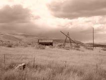 Días del granero de la sepia pasados imagen de archivo