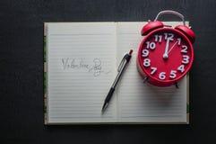 Días del valentin de la escritura del libro foto de archivo libre de regalías