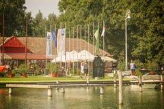 Días 2015 del vintage de la regata en el lago Palic Fotografía de archivo