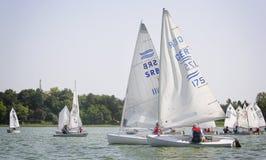Días 2015 del vintage de la regata en el lago Palic Imágenes de archivo libres de regalías