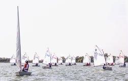 Días 2015 del vintage de la regata en el lago Palic Imagen de archivo