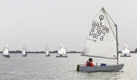 Días 2015 del vintage de la regata en el lago Palic Imagen de archivo libre de regalías