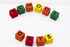 Días escolares Fotografía de archivo