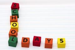 Días escolares Imagen de archivo