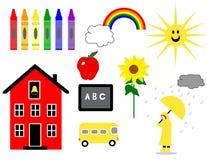 Días escolares tempranos Foto de archivo libre de regalías