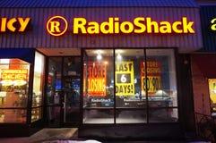 Días finales de Radio Shack fotos de archivo