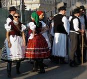 Días húngaros en Cluj Caras en la muchedumbre imagen de archivo libre de regalías