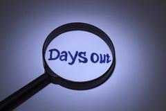 Días hacia fuera Imagen de archivo libre de regalías