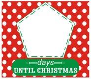 Días hasta la Navidad Foto de archivo libre de regalías