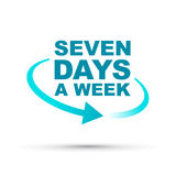 7 días a la semana icono stock de ilustración
