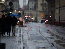 Días lluviosos en la ciudad Fotografía de archivo