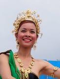 Días tailandeses 2013 de At Edmontons Heritage del bailarín Imágenes de archivo libres de regalías