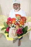 Dígala con las flores Fotografía de archivo libre de regalías