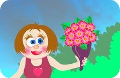Dígalo con las flores ilustración del vector