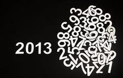 Dígito 2013 y números al azar de la pila Imágenes de archivo libres de regalías