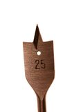 Dígito binario de taladro de madera Fotografía de archivo libre de regalías