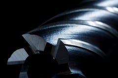 Dígito binario de taladro del molino del metal Fotografía de archivo