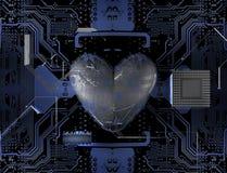 Dígito binario del corazón Imágenes de archivo libres de regalías