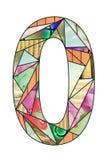 Dígito 0 del mosaico Fotos de archivo