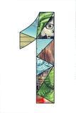 Dígito 1 del mosaico Imágenes de archivo libres de regalías