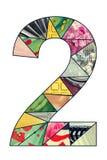 Dígito 2 del mosaico Imágenes de archivo libres de regalías