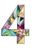 Dígito 4 del mosaico Fotografía de archivo libre de regalías