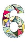 Dígito 6 del mosaico Imagen de archivo libre de regalías