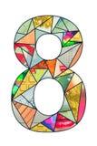 Dígito 8 del mosaico Imágenes de archivo libres de regalías