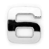 Dígito do metal - 6 imagem de stock