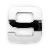 Dígito do metal - 9 imagens de stock royalty free