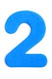 Dígito dos de la espuma fotografía de archivo libre de regalías