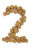 Dígito Nuts dois do gengibre imagens de stock royalty free