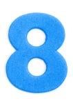 Dígito oito da espuma fotos de stock