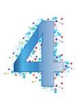 Dígito ornamental cuatro - vector libre illustration
