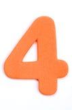 Dígito quatro da espuma foto de stock royalty free